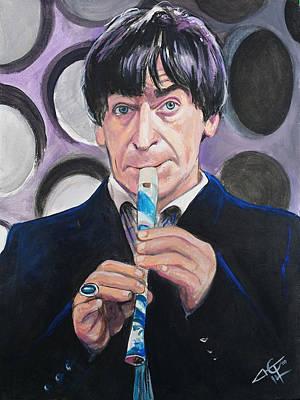 Dr Who #2 - Patrick Troughton Original by Tom Carlton