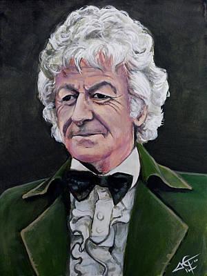 Dr Who #3 - Jon Pertwee  Original by Tom Carlton