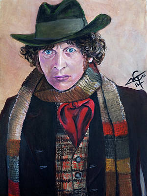 Dr. Who Wall Art - Painting - Dr Who #4 - Tom Baker by Tom Carlton
