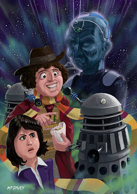 M P Davey Digital Art - Dr Who 4th Doctor Jelly Baby by Martin Davey