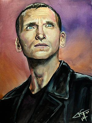 Dr Who #9 - Christopher Eccleston Original by Tom Carlton