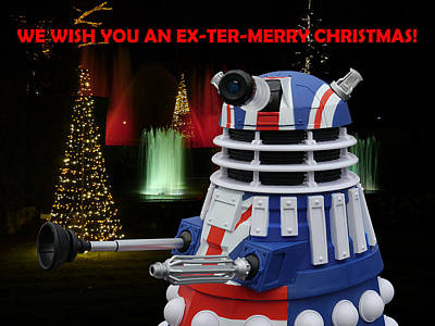Dr Who - Dalek Christmas Art Print