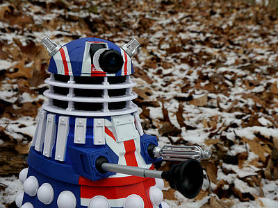 Photograph - Dr Who - Forest Dalek by Richard Reeve