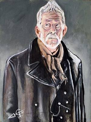 Dr Who Painting - Dr Who - War Doctor - John Hurt by Tom Carlton