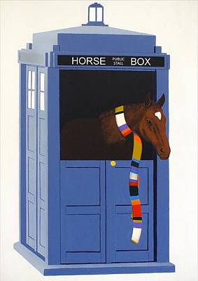 Painting - Dr. Whorse by Guy Pettingell