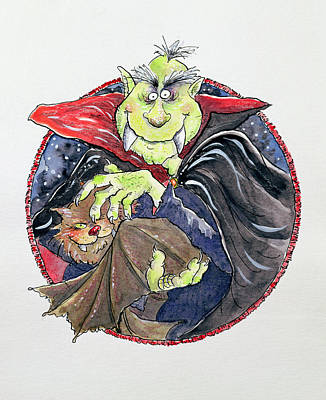 Bat Mixed Media - Dracula by Maylee Christie