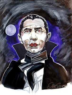 Horror Movies Painting - Dracula Bela Lugosi by Dave Olsen