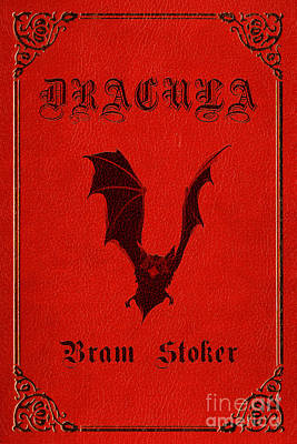 Book Jacket Drawing - Dracula Book Cover Poster Art 1 by Nishanth Gopinathan