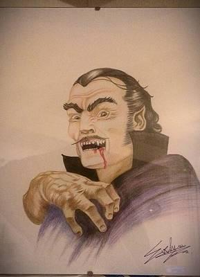 Teeth Drawing - Dracula by Evelyn Cseh