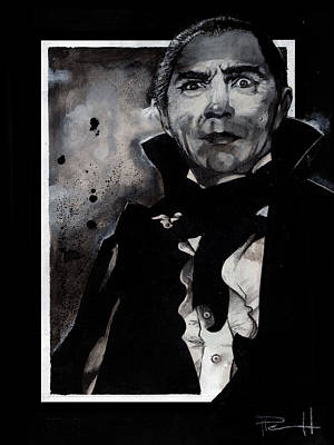 Painting - Dracula In Black And White by Sean Parnell