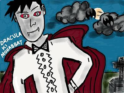 Dracula Digital Art - Dracula Ki Mohabbat by Jay Zaveri