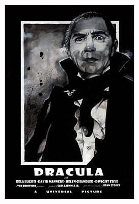 Painting - Dracula Movie Poster 1931 by Sean Parnell