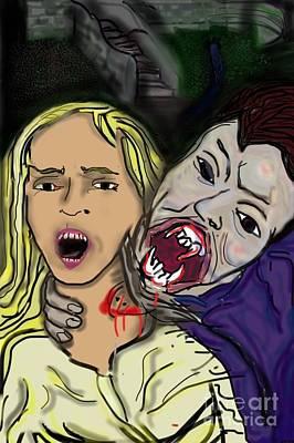 Dracula Digital Art - Dracula's Embrace by Chris Dippel
