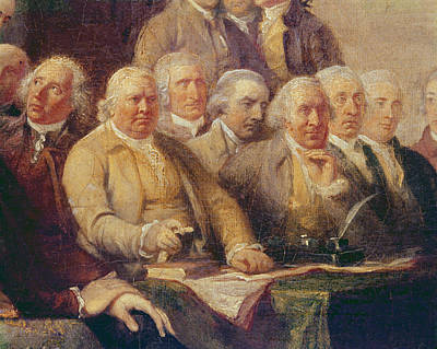 Drafting The Declaration Of Independence, 28th June 1776, C.1817 Oil On Canvas Detail Of 702745 Art Print by John Trumbull