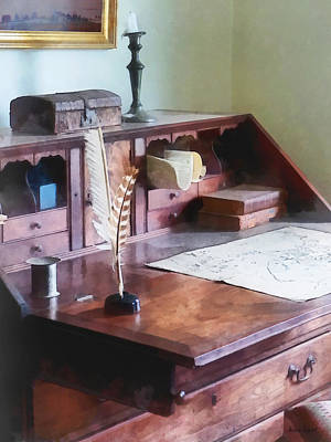 Photograph - Draftsman - Cartographer's Desk by Susan Savad