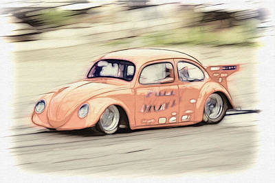 Rat Fink Photograph - Drag Race by Steve McKinzie