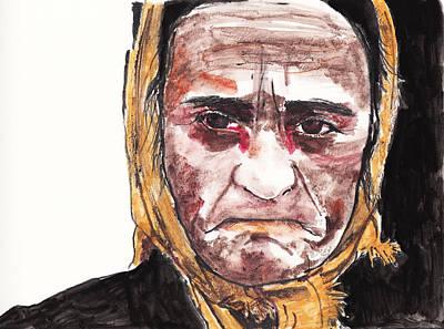 Oppression Drawing - Dragica Kostadinovic by Nancy Mergybrower