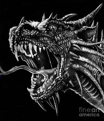 Dragon Art Print by Bill Richards