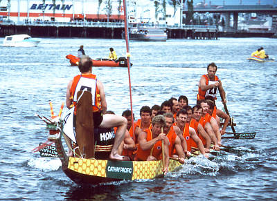Photograph - Dragon Boat Races - Cathay Pacific by Robert  Rodvik