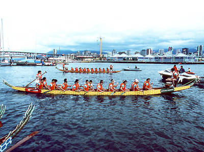 Photograph - Dragon Boat Races by Robert  Rodvik