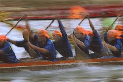 Dragon Boat Racing Thailand Art Print