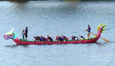 Photograph - Dragon Boat Rowers by Susan Garren