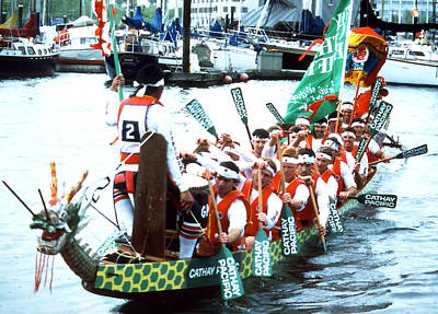 Photograph - Dragon Boats - Cathay Pacific by Robert  Rodvik