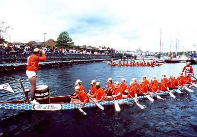 Photograph - Dragon Boats - Expo 86 by Robert  Rodvik