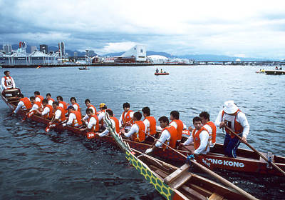 Photograph - Dragon Boats - Lining Up by Robert  Rodvik