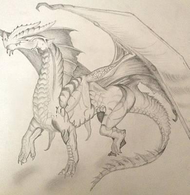 Dragon Art Print by Caitlin Mitchell