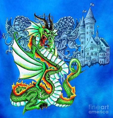Digital Art - Dragon Castle by Scarlett Royal