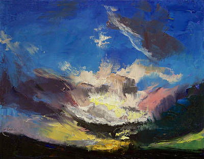 Impasto Oil Painting - Dragon Cloud by Michael Creese