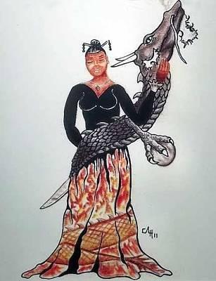 Drawing - Dragon by Cortney Haynes