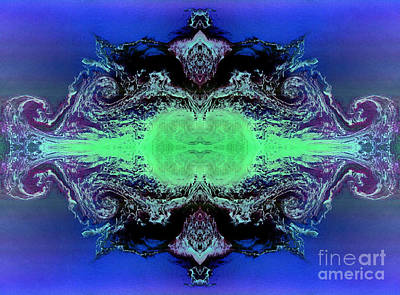 Phytoplankton Digital Art - Dragon Den Under Water Palace Abstract Ocean Art by Animated Sentiments