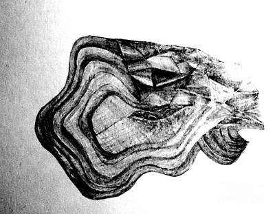 Drawing - Dragon Diamond Eye by Laura Hamill