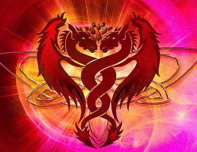 Dragon Duel Series 15 Art Print by Teri Schuster