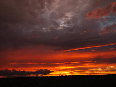 Photograph - Dragon Fire Sunset by Peggy King