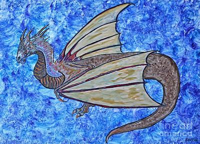 Painting - Dragon Flight Fantasy by Ella Kaye Dickey