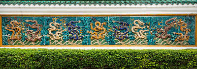 Featured Images Photograph - Dragon Frieze Outside A Building by Panoramic Images