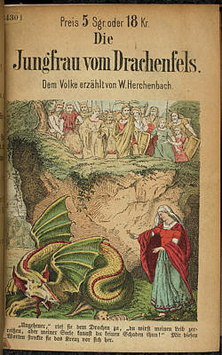 Mythological Photograph - Dragon In A Pit by British Library