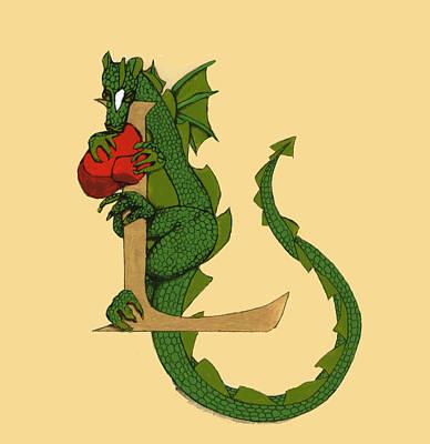 Dragon Letter L Art Print