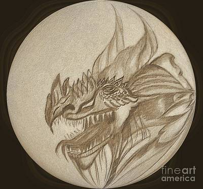 Digital Art - Dragon Medallion by Maria Urso