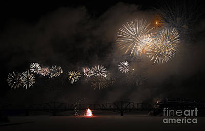 Fire Works Photograph - Dragon Of Light.. by Nina Stavlund