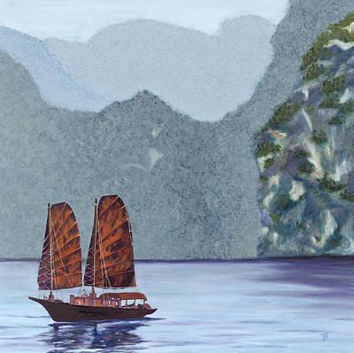 Painting - Dragon Pearls by Jini Patel Thompson - JPT