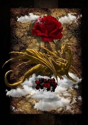 Digital Art - Dragon Rose by Ali Oppy
