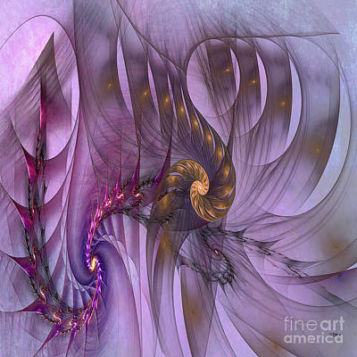 Digital Art - Dragon Seed - Square Version by John Beck