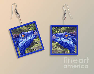 Dragon Sight Paper Earrings Original by Melissa A Benson