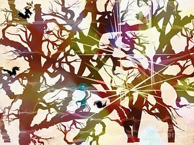 Digital Art - Dragon Tree by Denise Tomasura