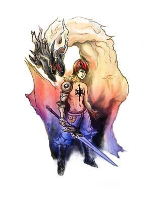 Digital Art - Dragon Warrior by Miguel Karlo Dominado