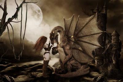 Dragon Whispers  Art Print